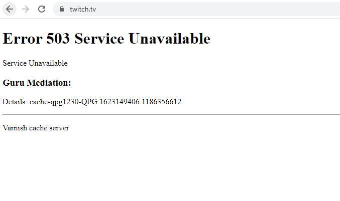 Twitch.tv Down